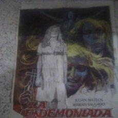 Cine: CARTEL PÓSTER DE CINE LA ENDEMONIADA 1975 PELÍCULA DE TERROR. Lote 232823355