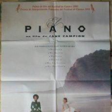 Cine: CARTEL ORIGINAL DE LA PELÍCULA EL PIANO. DE JANE CAMPION. CON HOLLY HUNTER. 1993. Lote 232836655