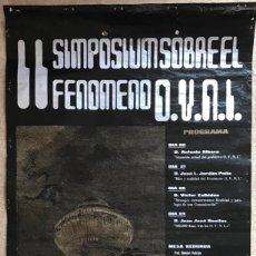 Cine: CARTEL II SIMPOSIUM FENÓMENO OVNI - SANTANDER, 1976 -RECUERDOS DEL FUTURO Y REGRESO A LAS ESTRELLAS. Lote 232854550