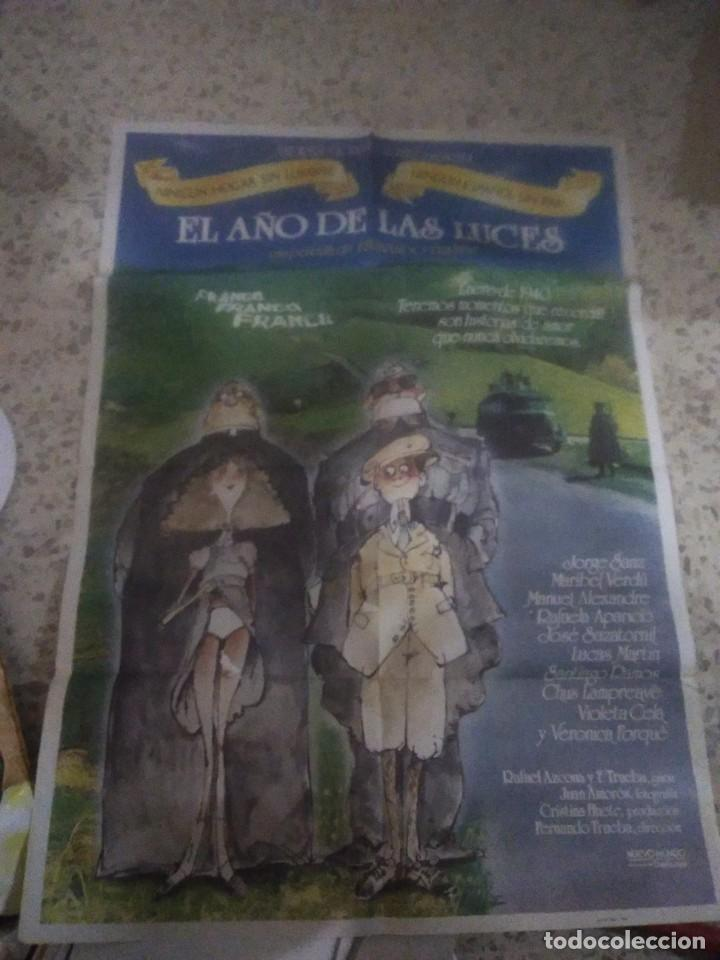 POSTER CARTEL CINE EL AÑO DE LAS LUCES. JORGE SANZ, MARIBEL VERDU. AÑO 1986. (Cine - Posters y Carteles - Comedia)
