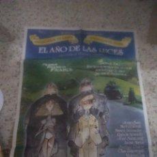 Cine: POSTER CARTEL CINE EL AÑO DE LAS LUCES. JORGE SANZ, MARIBEL VERDU. AÑO 1986.. Lote 232885465