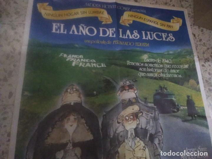Cine: Poster cartel cine EL AÑO DE LAS LUCES. JORGE SANZ, MARIBEL VERDU. AÑO 1986. - Foto 2 - 232885465