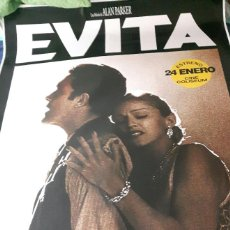 Cine: MADONNA - EVITA - POSTER ENORME DE CINE - OFICIAL - EXCELENTE ESTADO - ANTONIO BANDERAS - NO CORREOS. Lote 233138625