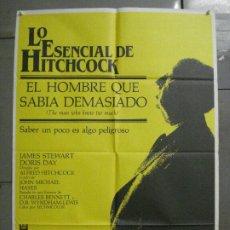 Cine: CDO 8134 EL HOMBRE QUE SABIA DEMASIADO ALFRED HITCHCOCK POSTER ORIGINAL 70X100 ESPAÑOL. Lote 233289330