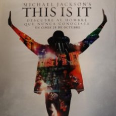 Cine: PÓSTER THIS IS IT MICHAEL JACKSON. Lote 233329025