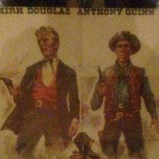 Cine: EL ULTIMO TREN DE GUN HILL-CARTEL ORIGINAL-KIRK DOUGLAS-.1X70-AÑO-1973-OESTE-. Lote 233397105