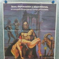 Cinema: LOS RITOS SEXUALES DEL DIABLO. HELGA LINÉ, VANESSA HIDALGO, TITO VALVERDE. AÑO 1982. POSTER ORIGINAL. Lote 233539630