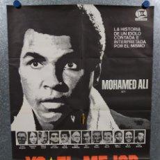 Cine: YO, EL MEJOR. MUHAMMAD ALI. POSTER ORIGINAL. Lote 269096608