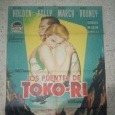 Cinema: CARTEL ORIGINAL ESPAÑOL LOS PUENTES DE TOKO-RI, GRACE KELLY, FREDRIC MARCH, MICKEY ROONEY. Lote 233823830