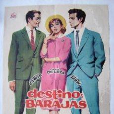 Cine: DESTINO BARAJAS, CON MARISA DE LEZA. PÓSTER 69,5 X 99 CMS. DISEÑO: JANO. 1979.. Lote 233977695