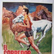 Cine: EL CORREDOR VALIENTE, CON ROBBY BENSON. PÓSTER 70 X 99,5 CMS. DISEÑO: JANO. 1984.. Lote 233982745