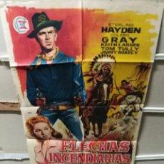 Cinema: FLECHAS INCENDIARIAS STERLING HAYDEN POSTER ORIGINAL 70X100 YY (2512). Lote 234284415