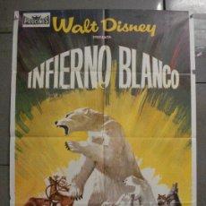 Cine: CDO 8205 INFIERNO BLANCO WALT DISNEY DOCUMENTAL ARTICO LEMMINGS POSTER ORIGINAL 70X100 ESTRENO. Lote 234311335