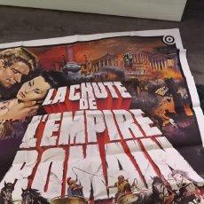 Cine: LA CAIDA DEL IMPERIO ROMANO - CARTEL POSTER DEL ESTRENO EN FRANCIA DE LA PELÍCULA - SAMUEL BRONSTON. Lote 234345825