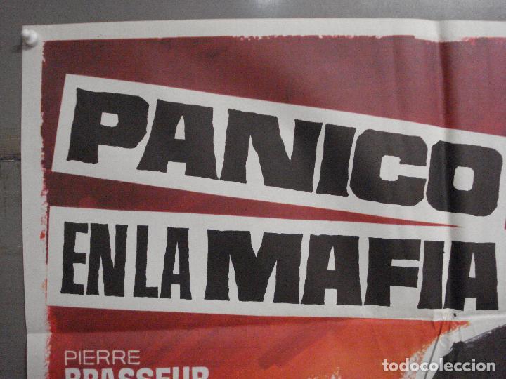 Cine: CDO 8233 PANICO MAFIA PIERRE BRASSEUR SILVIA SOLAR ALAIN BARRIERE POSTER ORIGINAL 70X100 ESTRENO - Foto 2 - 234364690
