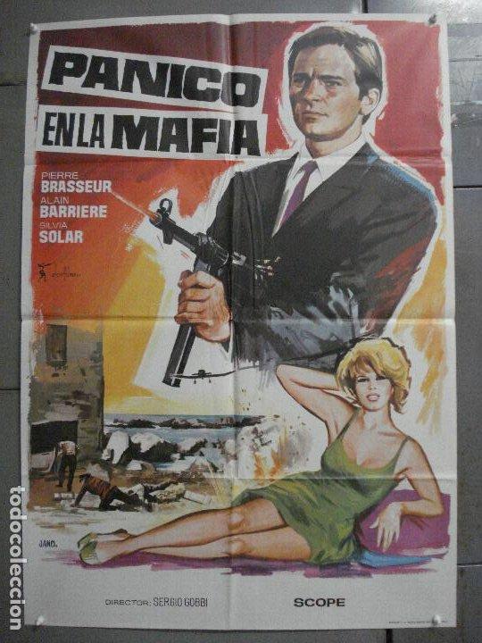 CDO 8233 PANICO MAFIA PIERRE BRASSEUR SILVIA SOLAR ALAIN BARRIERE POSTER ORIGINAL 70X100 ESTRENO (Cine - Posters y Carteles - Acción)