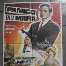 Cine: CDO 8233 PANICO MAFIA PIERRE BRASSEUR SILVIA SOLAR ALAIN BARRIERE POSTER ORIGINAL 70X100 ESTRENO. Lote 234364690
