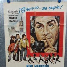 Cine: ITALIAN SECRET SERVICE. NINO MANFREDI, FRANÇOISE PRÉVOST, CLIVE REVILL. AÑO 1969. POSTER ORIGINAL. Lote 234384535