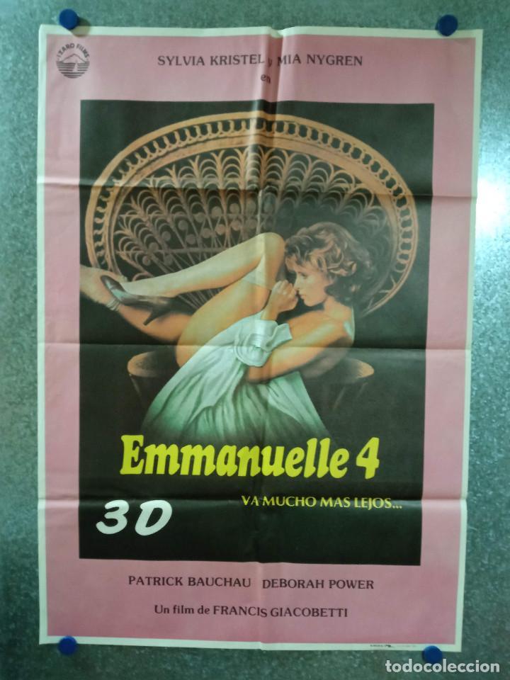 EMMANUELLE 4. SYLVIA KRISTEL. AÑO 1984. POSTER ORIGINAL (Cine- Posters y Carteles - Drama)