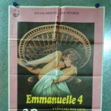 Cine: EMMANUELLE 4. SYLVIA KRISTEL. AÑO 1984. POSTER ORIGINAL. Lote 234390360
