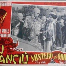 Cine: BL97D LOS TAMBORES DE FU MANCHU HENRY BRANDON JORNADAS POSTER ORIGINAL ITALIANO 34X49. Lote 234411370