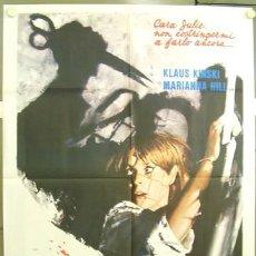 Cine: US53D PSICOPATA MARIANA HILL KLAUS KINSKI POSTER ORIGINAL ITALIANO 100X140. Lote 234413820
