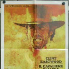 Cine: 3UV15D EL JINETE PALIDO CLINT EASTWOOD POSTER ORIGINAL ITALIANO 68X94. Lote 234414400
