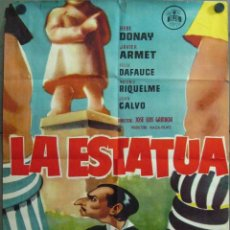 Cine: VT44D LA ESTATUA ANTONIO RIQUELME FUTBOL POSTER ORIGINAL 70X100 ESTRENO. Lote 234419550