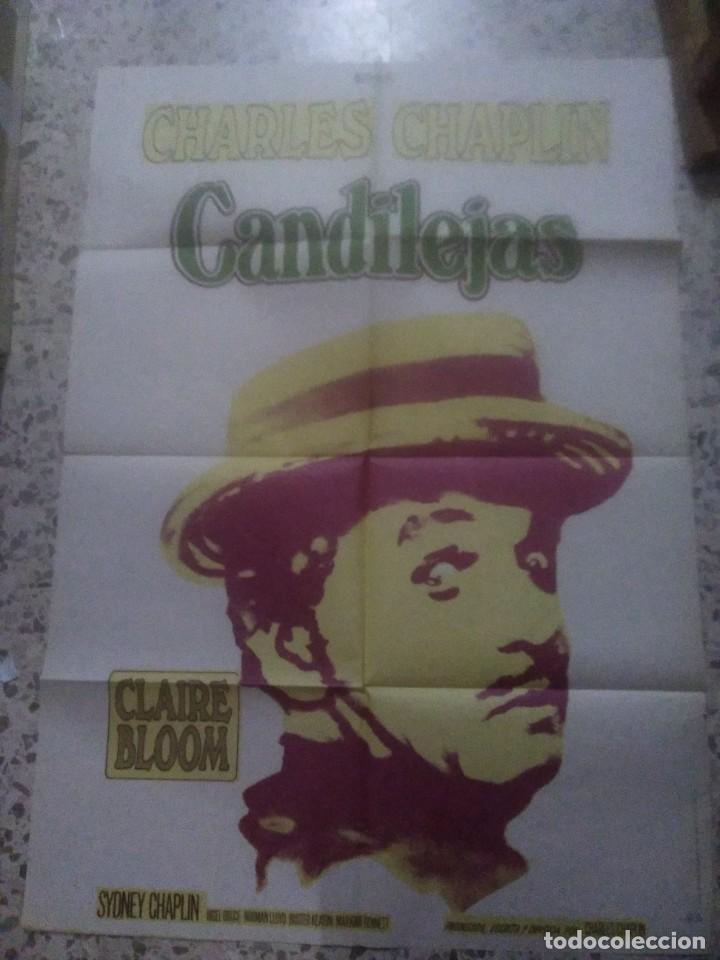 POSTER CANDILEJAS. CHARLES CHAPLIN. CARTEL ORIGINAL 1975. 70X100 (Cine - Posters y Carteles - Comedia)