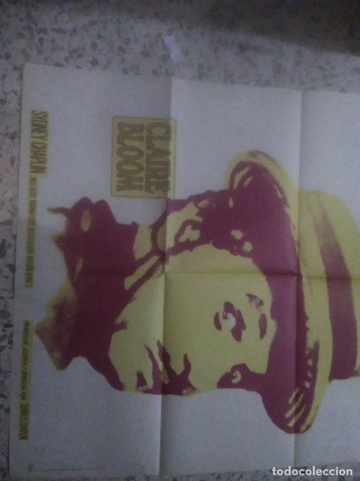 Cine: Poster CANDILEJAS. CHARLES CHAPLIN. CARTEL ORIGINAL 1975. 70X100 - Foto 2 - 234489905