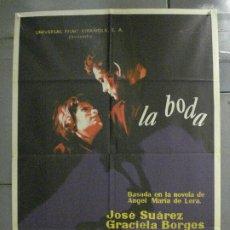 Cine: CDO 8265 LA BODA JOSE SUAREZ SUSANA CAMPOS POSTER ORIGINAL 70X100 ESTRENO. Lote 234495140
