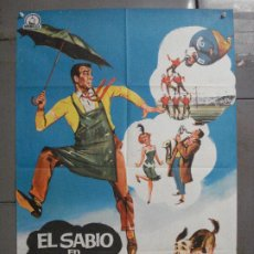 Cine: CDO 8287 EL SABIO EN APUROS FRED MACMURRAY WALT DISNEY POSTER ORIGINAL 70X100 ESTRENO. Lote 234532395