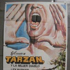 Cine: CDO 8290 TARZAN Y LA MUJER DIABLO LEX BARKER POSTER ORIGINAL 70X100 ESTRENO. Lote 234534550