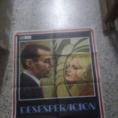 Cine: DESESPERACION DESPAIR FASSBINDER DIRK BOGARDE POSTER ORIGINAL 70X100. Lote 234552675