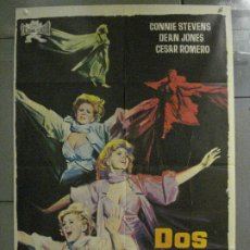 Cine: CDO 8327 DOS EN LA GUILLOTINA CONNIE STEVENS JANO POSTER ORIGINAL 70X100 ESTRENO. Lote 234563790