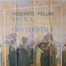 Cine: EU83D ENSAYO DE ORQUESTA FEDERICO FELLINI POSTER ORIGINAL ITALIANO 140X200. Lote 234595830