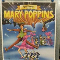 Cine: MARY POPPINS, JULIE ANDREWS, DICK VAN DYKE. DISNEY. POSTER ORIGINAL. Lote 234720720