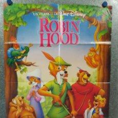 Cine: ROBIN HOOD. DISNEY. AÑO 1989. POSTER ORIGINAL. Lote 234721235