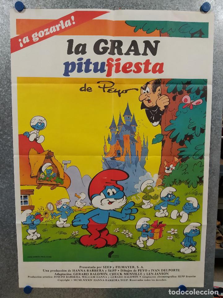 LA GRAN PITUFIESTA LOS PITUFOS. POSTER ORIGINAL ESTRENO (Cine - Posters y Carteles - Infantil)