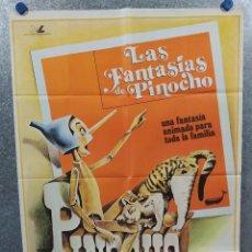 Cine: LAS FANTASÍAS DE PINOCHO. AÑO 1979. POSTER ORIGINAL. Lote 234728240