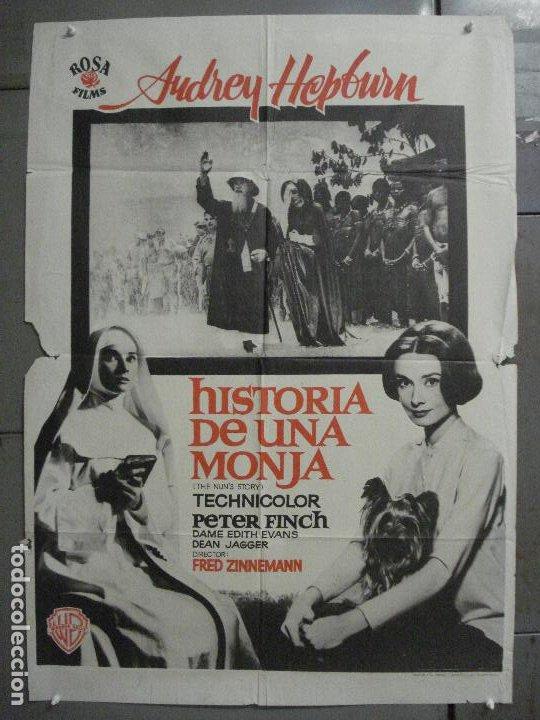 CDO 8377 HISTORIA DE UNA MONJA AUDREY HEPBURN POSTER ORIGINAL 70X100 ESPAÑOL R-72 (Cine- Posters y Carteles - Drama)