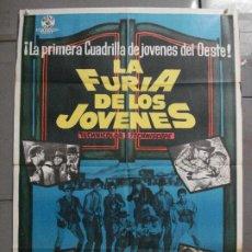Cine: CDO 8380 LA FURIA DE LOS JOVENES RORY CALHOUN VIRGINIA MAYO POSTER ORIGINAL 70X100 ESTRENO. Lote 234742345