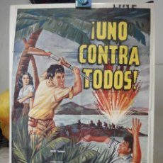 Cine: POSTER ORIGINAL UNO CONTRA TODOS NO MAN IS AN ISLAND JEFFREY HUNTER MARSHALL THOMSON 1962 UNIVERSAL. Lote 234769565