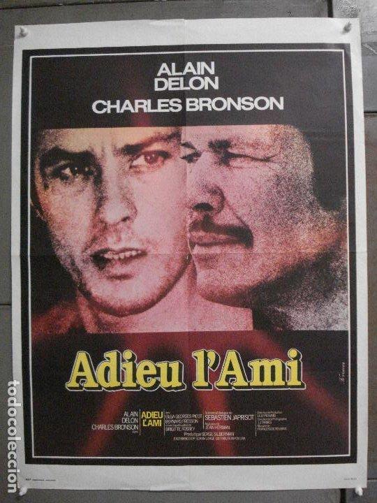CDO 7613 ADIOS AMIGO ALAIN DELON CHARLES BRONSON POSTER ORIGINAL FRANCES 60X80 (Cine - Posters y Carteles - Acción)