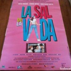 Cine: LA SAL DE LA VIDA - PATXI ANDION, IVONNE REYES, J. DIEGO BOTTO - POSTER ORIGINAL COLUMBIA 1996. Lote 234934545