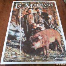 Cine: LA MARRANA - ALFREDO LANDA, ANTONIO RESINES, JOSÉ LUIS CUERDA - POSTER ORIGINAL U.I.P AÑO 1992. Lote 234936570