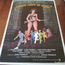 Cine: CUÁNTO COBRA UN ESPIA? - JUAN SOLER, LINA ROMAY, EVA LEÓN, JESUS FRANCO - POSTER ORIGINAL C.I.C 1984. Lote 234964770
