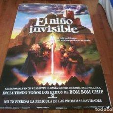 Cine: EL NIÑO INVISIBLE - BOM BOM CHIP, LIDIA SAN JOSÉ, CHETE LERA - POSTER ORIGINAL SOGEPAQ 1995 MOD 1. Lote 234966480