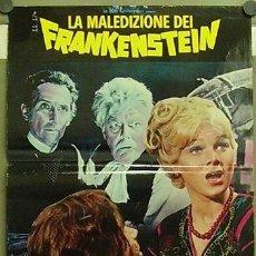 Cine: HX64D FRANKENSTEIN CREATED WOMAN HAMMER PETER CUSHING POSTER ORIGINAL 47X68 ITALIANO. Lote 235001550