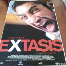 Cine: ÉXTASIS - JAVIER BARDEM, FEDERICO LUPPI, SILVIA MUNT, MARIANO BARROSO - POSTER ORIGINAL ALTA 1995. Lote 235092700